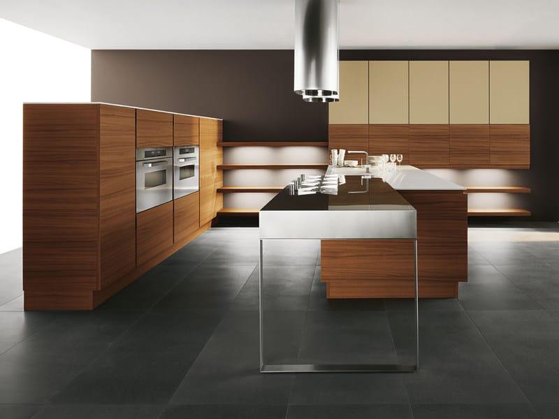 Teak kitchen with island YARA - COMPOSITION 4 by Cesar Arredamenti