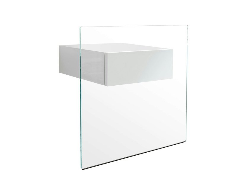 Glass bedside table DO-MO by Tonelli Design