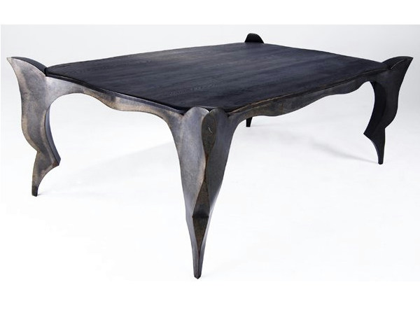 Rectangular steel table GOTHIC by ICI ET LÀ