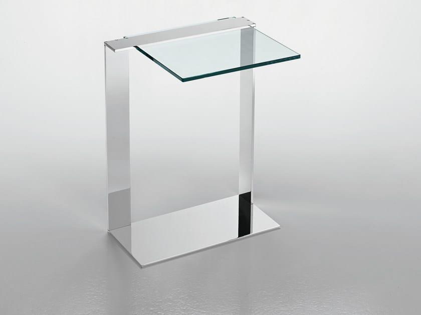 Glass side table JOLIET by Tonelli Design