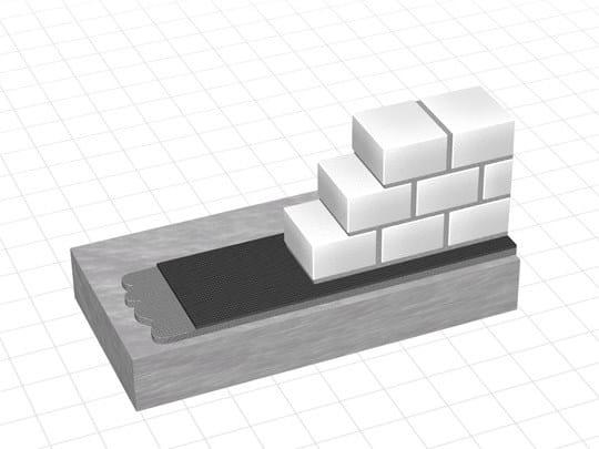 Sheaths for foundation and earth retaining wall DELTA® - RADONSPERRE by DÖRKEN ITALIA