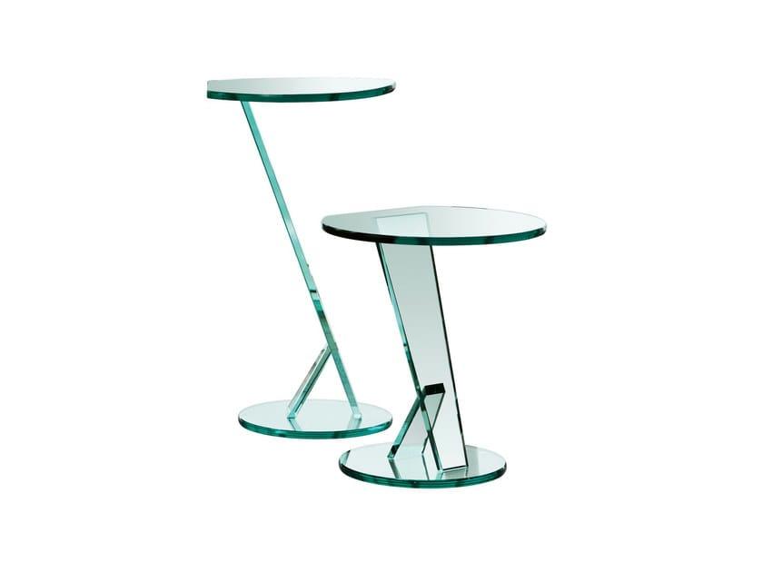 Glass side table NICCHIO by Tonelli Design