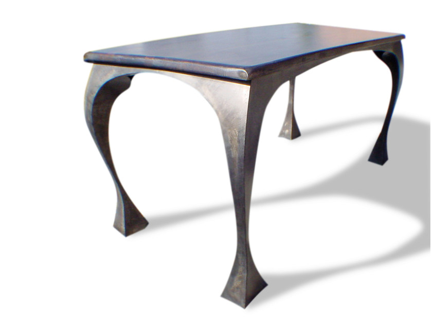 Design rectangular steel table BRIDE by ICI ET LÀ