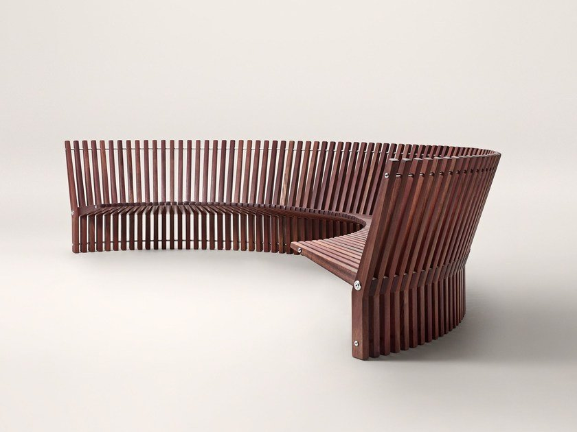 Modular wooden garden bench ASTRAL by FREDERICIA FURNITURE