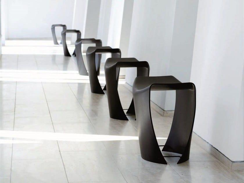 Wood veneer stool GALLERY by FREDERICIA FURNITURE