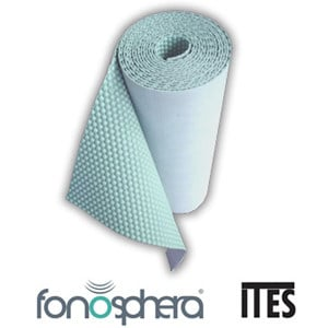 Sound insulation and sound absorbing felt in synthetic material FONOSPHERA® by GRUPPO SOGIMI