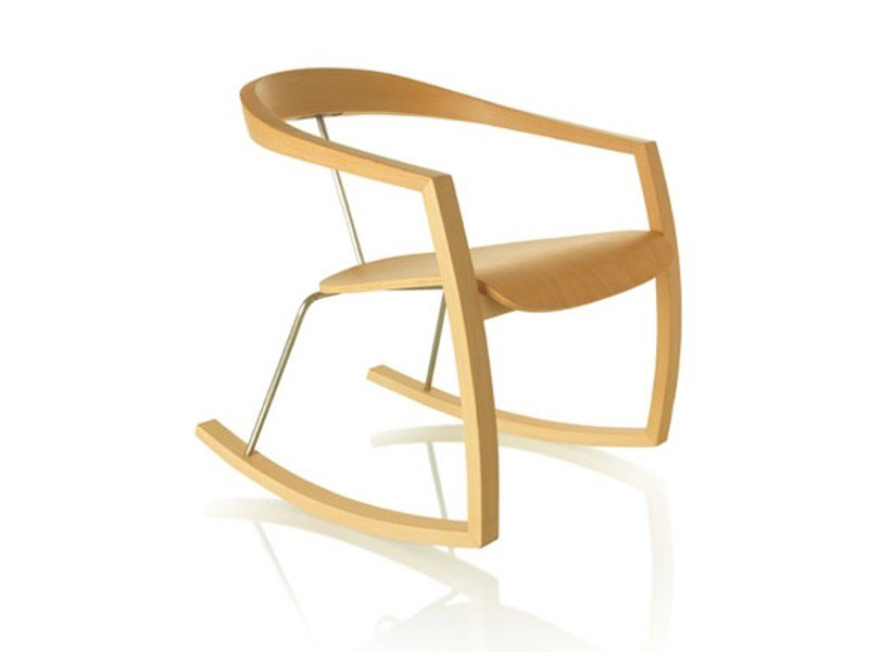 Rocking beech chair RO-RO by Zilio A&C