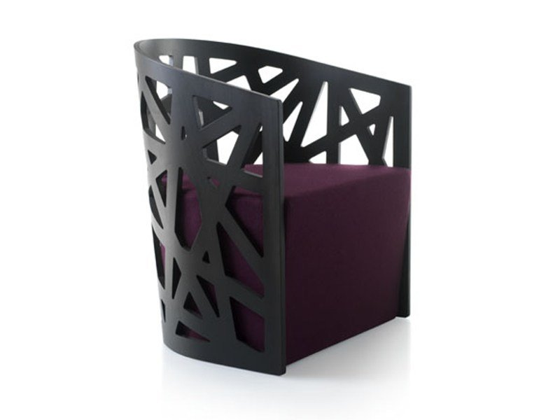 Beech armchair MAZY by Zilio A&C