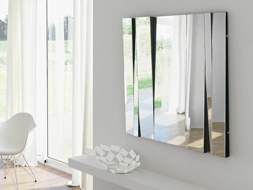 Rectangular wall-mounted mirror FITTIPALDI by Tonelli Design