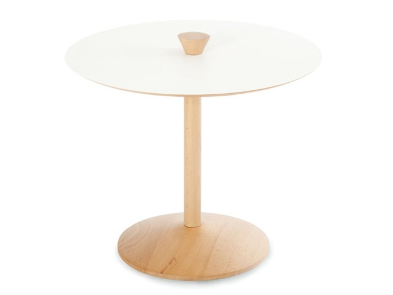 Round beech coffee table SNOOPY by Zilio A&C