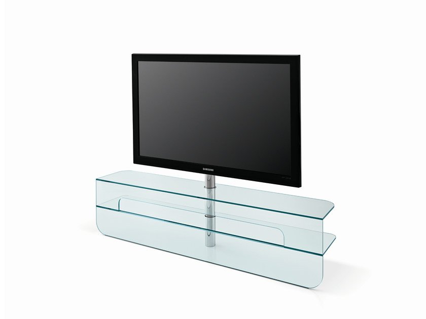 Low Glass TV Cabinet PLASMATIK By Tonelli Design