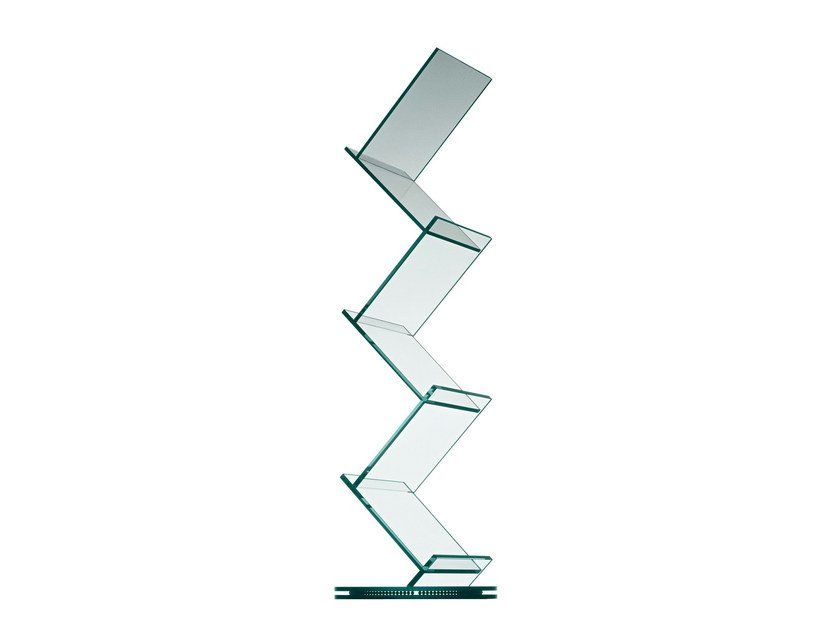 Swivel glass bookcase ALBERO by Tonelli Design