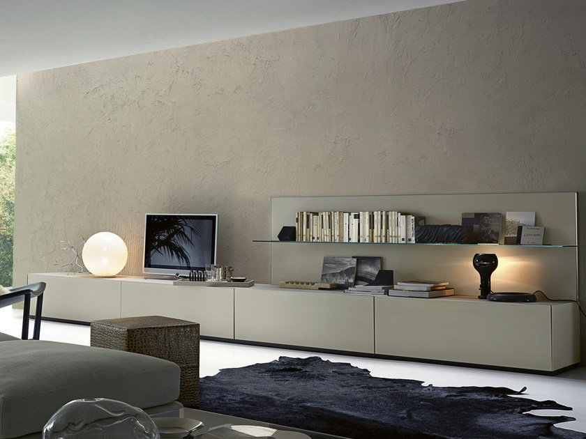 Low modular wooden TV cabinet AIR | Low TV cabinet by Gallotti&Radice
