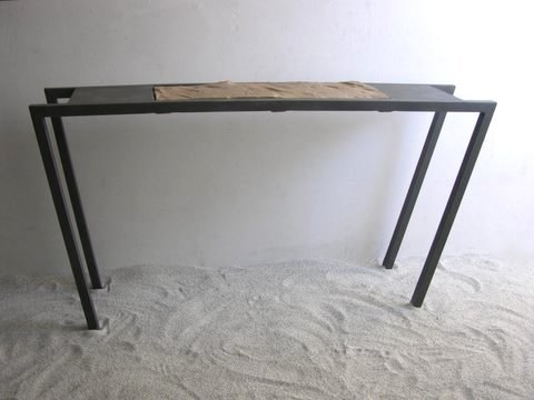 Rectangular iron console table SORRA CONSOLA by ICI ET LÀ