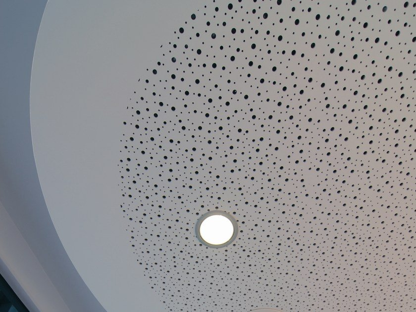 Acoustic plasterboard ceiling tiles LASTRA SF 12/25R by Fibran