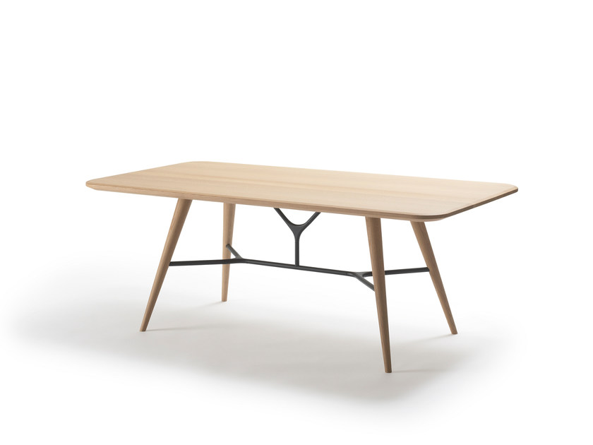 Rectangular wooden coffee table SPINE | Rectangular coffee table by FREDERICIA FURNITURE
