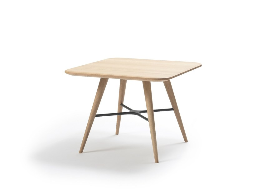 Square wooden coffee table SPINE | Square coffee table by FREDERICIA FURNITURE