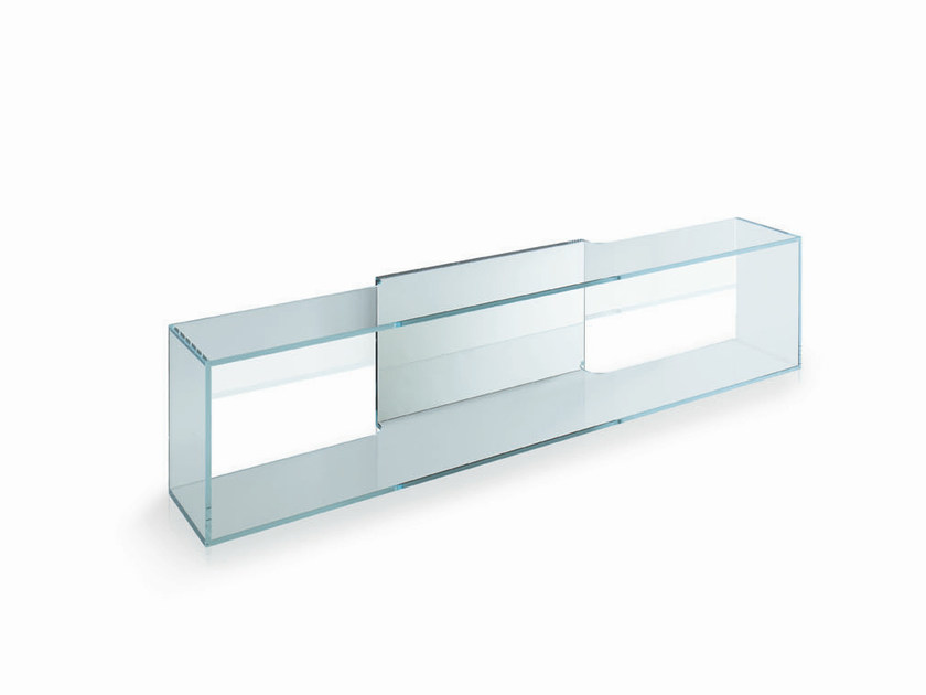 Glass wall shelf BRAMA by Tonelli Design
