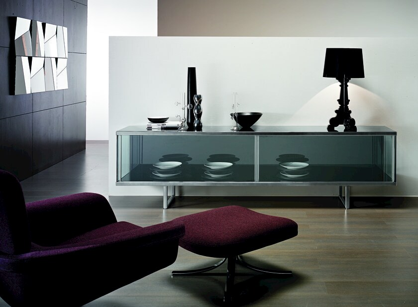 Sideboard with sliding doors BROADWAY LARGE by Tonelli Design