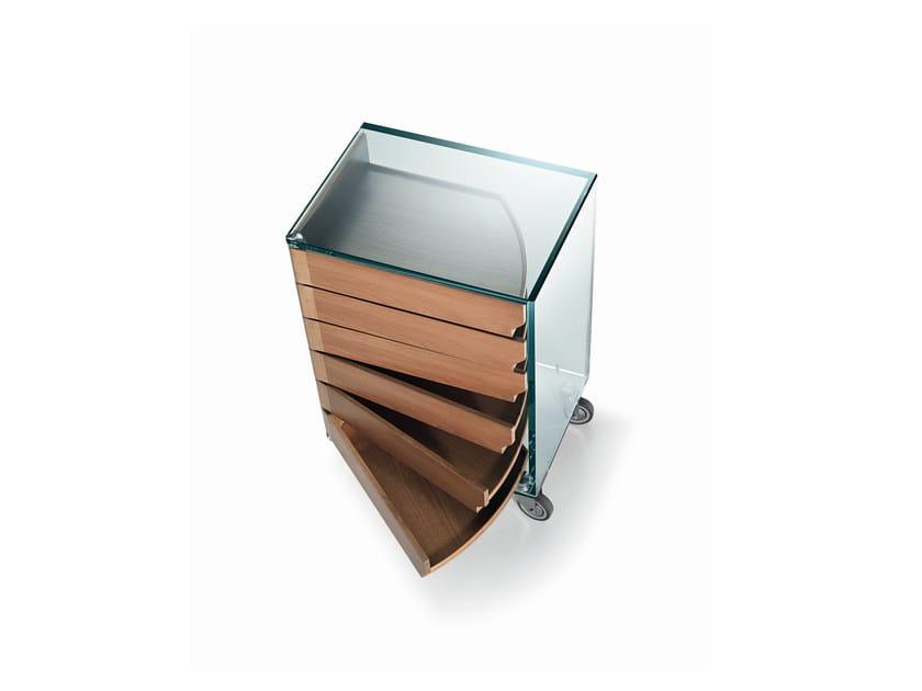 Cassettiera in legno su ruote camicino by tonelli design design