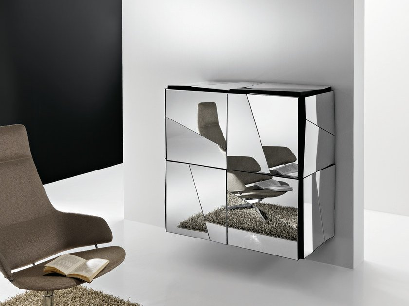 Suspended glass highboard PSICHE | Suspended highboard by Tonelli Design
