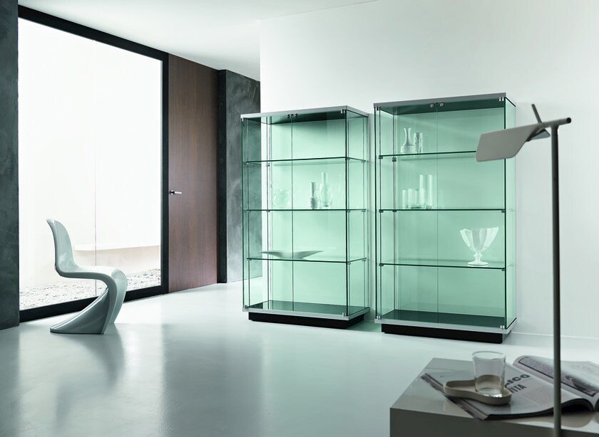 Vetrina in vetro broadway vetrina tonelli design - Vetrinette da parete ...