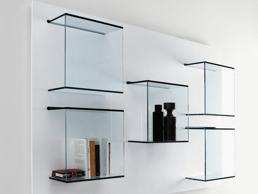 Wall-mounted glass bookcase DAZIBAO by Tonelli Design