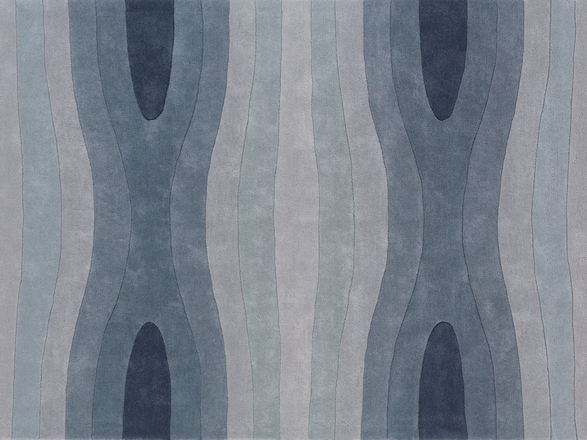 Rectangular wool rug SQUEEZE 3 by NOW CARPETS