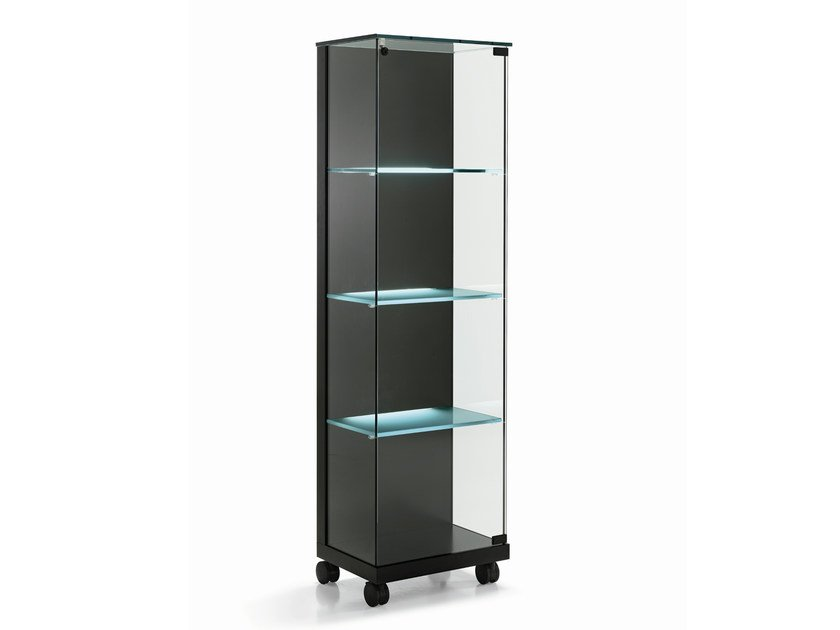 Crystal display cabinet with casters MEDORA by Tonelli Design