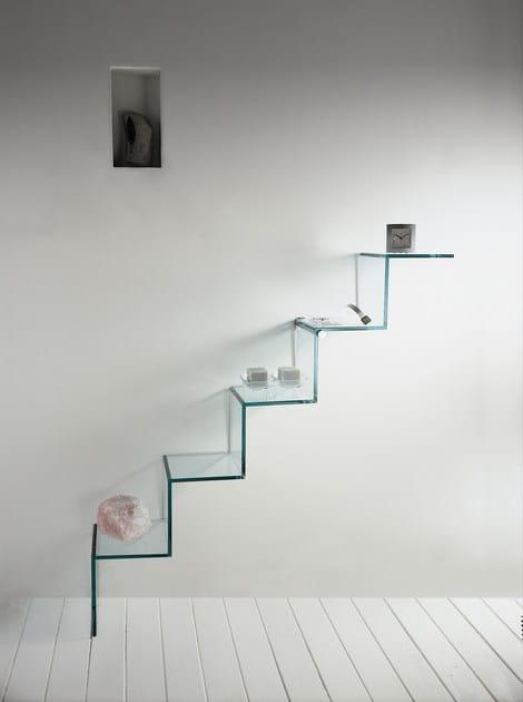 Estante de vidrio SCALA DEL CIELO By Tonelli Design diseo Paolo Lomazzi