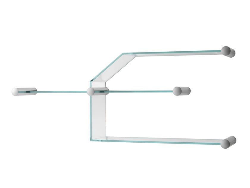 Glass bookcase / wall shelf TRANSISTOR by Tonelli Design