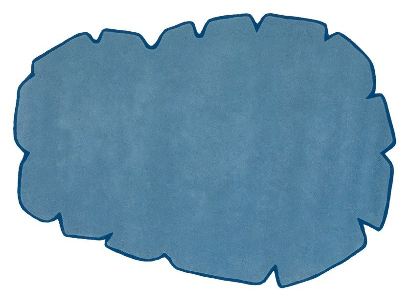 Solid-color wool rug CLOUD by NOW CARPETS