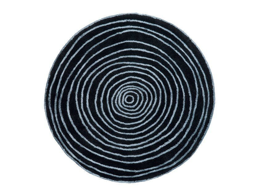 Round rug with geometric shapes LAPS | Round rug by NOW CARPETS