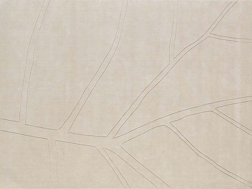 Solid-color wool rug LEAF | Rectangular rug by NOW CARPETS