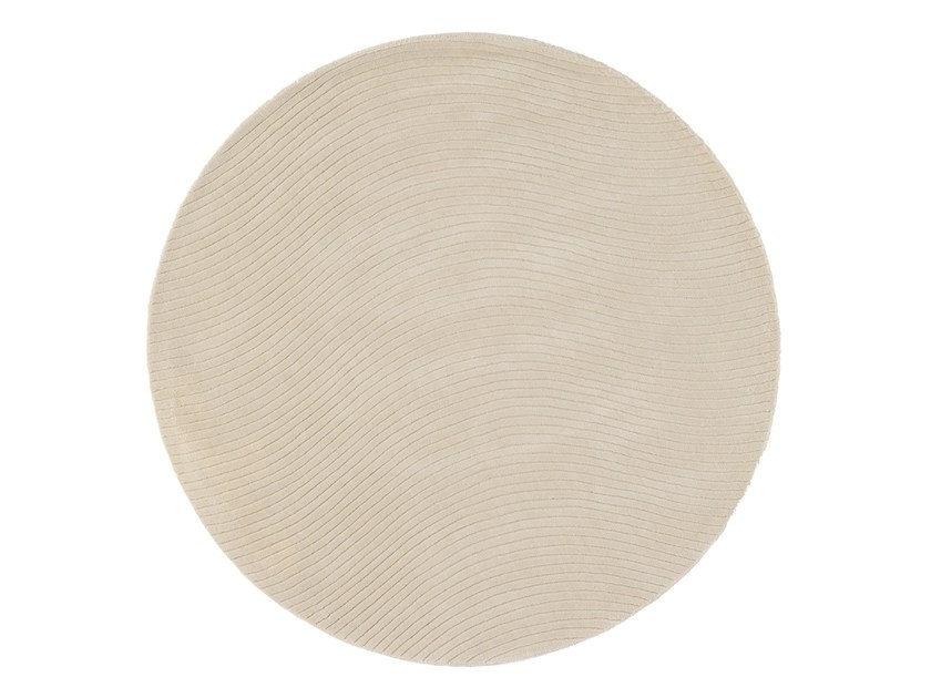 Solid-color wool rug ONA | Round rug by NOW CARPETS