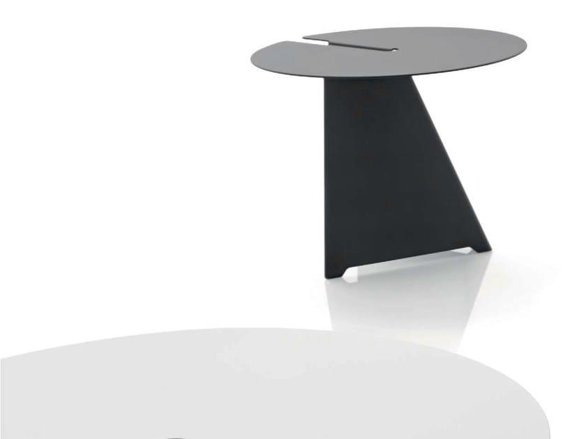 In line Rotondo Acciaio Tavolino Abra B PuOiZkX