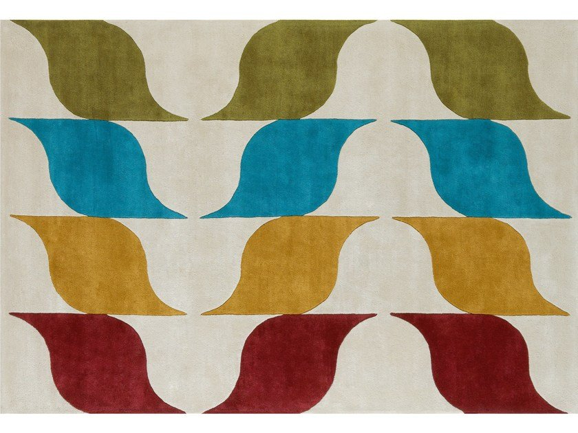 Patterned wool rug AMUSÉE by NOW CARPETS