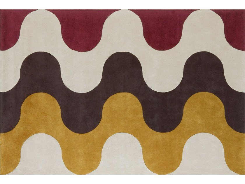 Patterned wool rug FLAMMES by NOW CARPETS