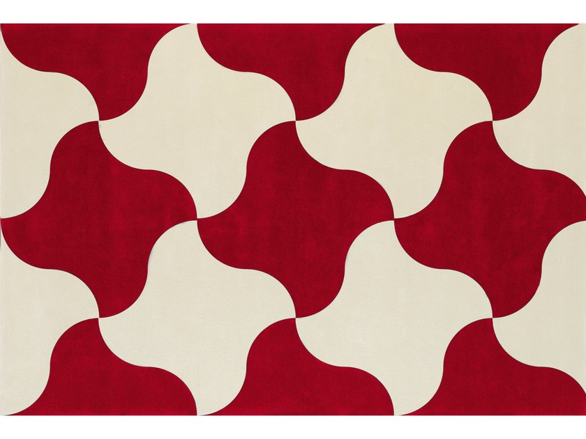 Patterned wool rug MOULIN À VENT by NOW CARPETS