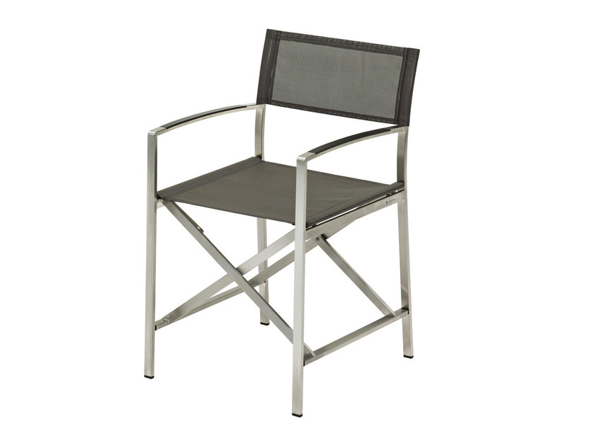Folding garden chair with armrests FUSION | Folding chair by Gloster