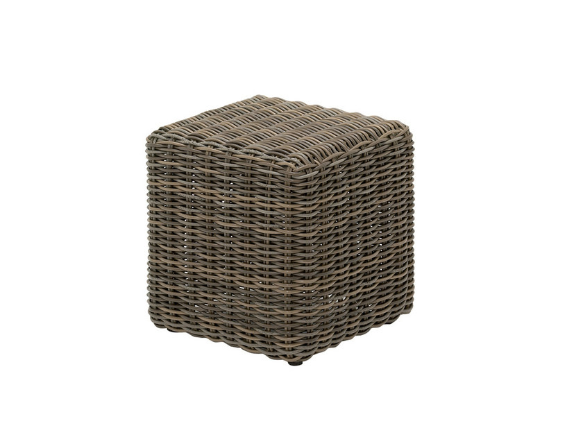 Square wicker garden side table HAVANA | Square Side Table by Gloster
