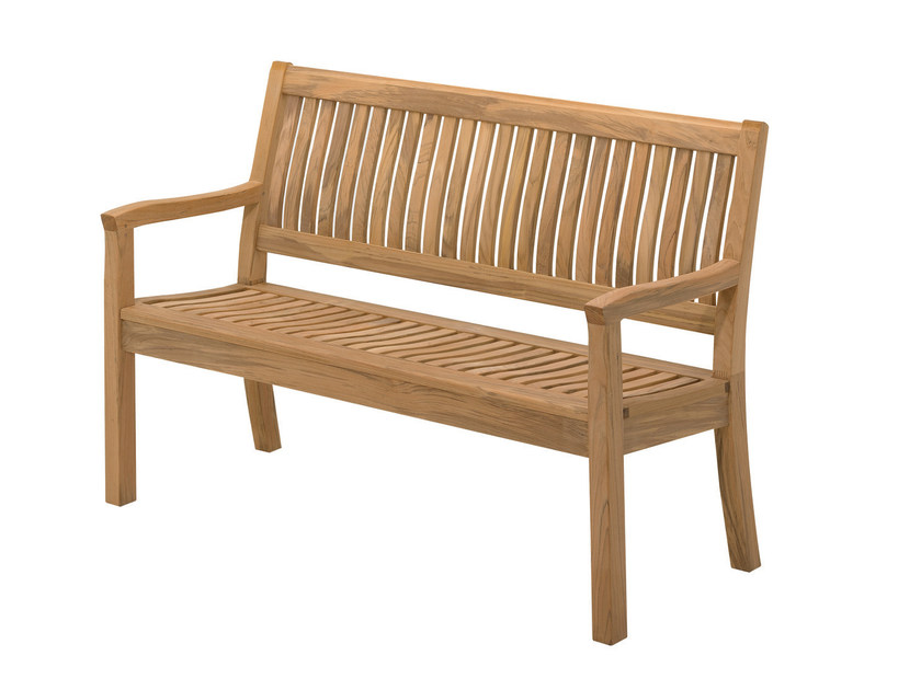 Garden bench with armrests KINGSTON   Garden bench by Gloster