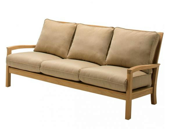 Upholstered 3 seater sofa KINGSTON   3 seater garden sofa by Gloster