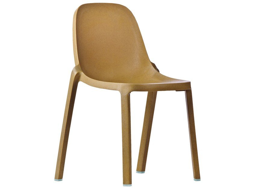 Stackable polypropylene chair BROOM | Chair by Emeco