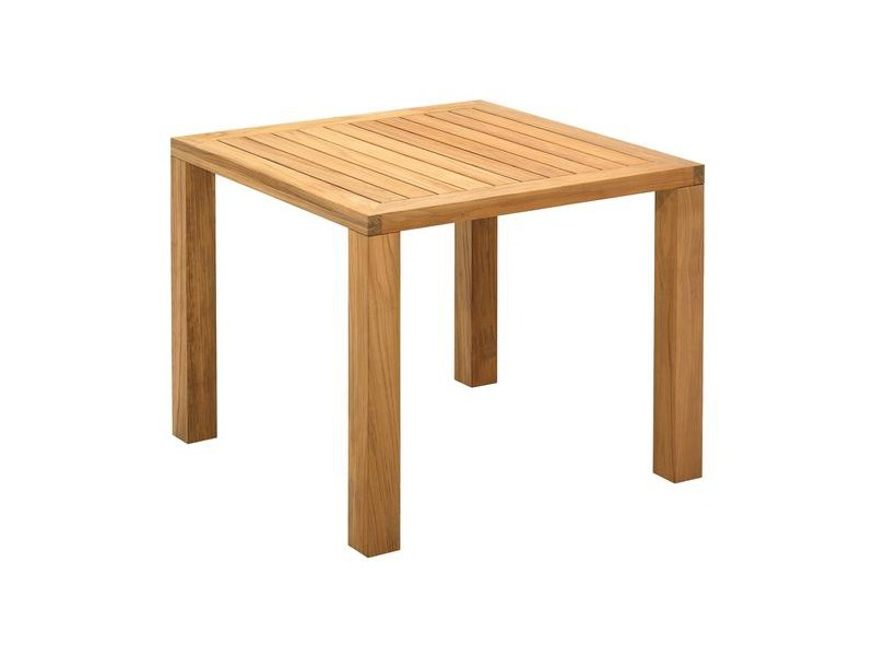 Square teak garden table SQUARE | Square garden table by Gloster