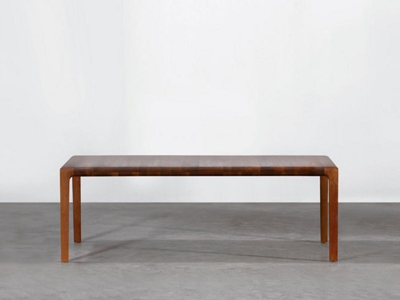 Extending rectangular wooden table INVITO | Extending table by Artisan
