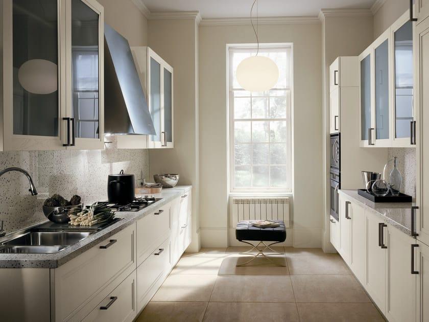 Ash kitchen with handles SUPRÊME   Quartz kitchen by ERNESTOMEDA