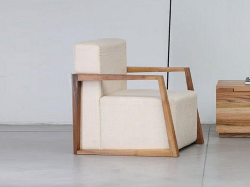 Upholstered armchair BASIC | Armchair by Artisan