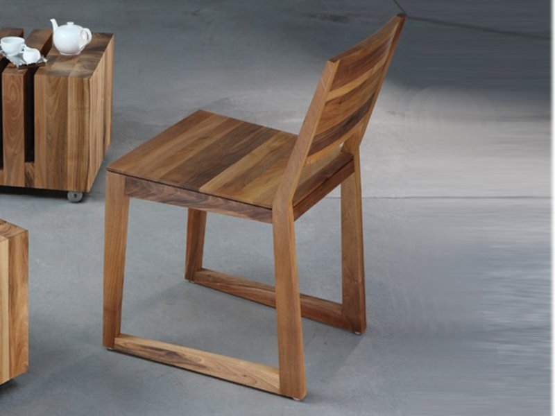 Sled base walnut chair BASIC | Chair by Artisan