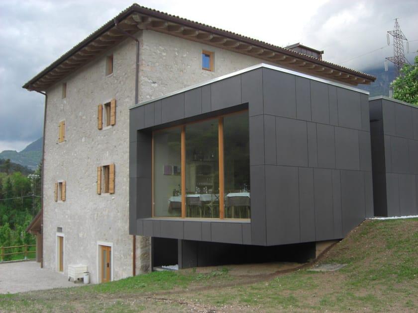 Pannelli per facciate e coperture in cemento fibrorinforzato swisspearl swisspearl italia - Piastrelle per facciate esterne ...